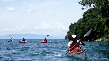 Journeying between Gisenyi and Kibuye on Lake KIvu, in Rwanda.